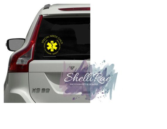 Special Needs Child car window decal free US shipping by ShelliRaeDesigns