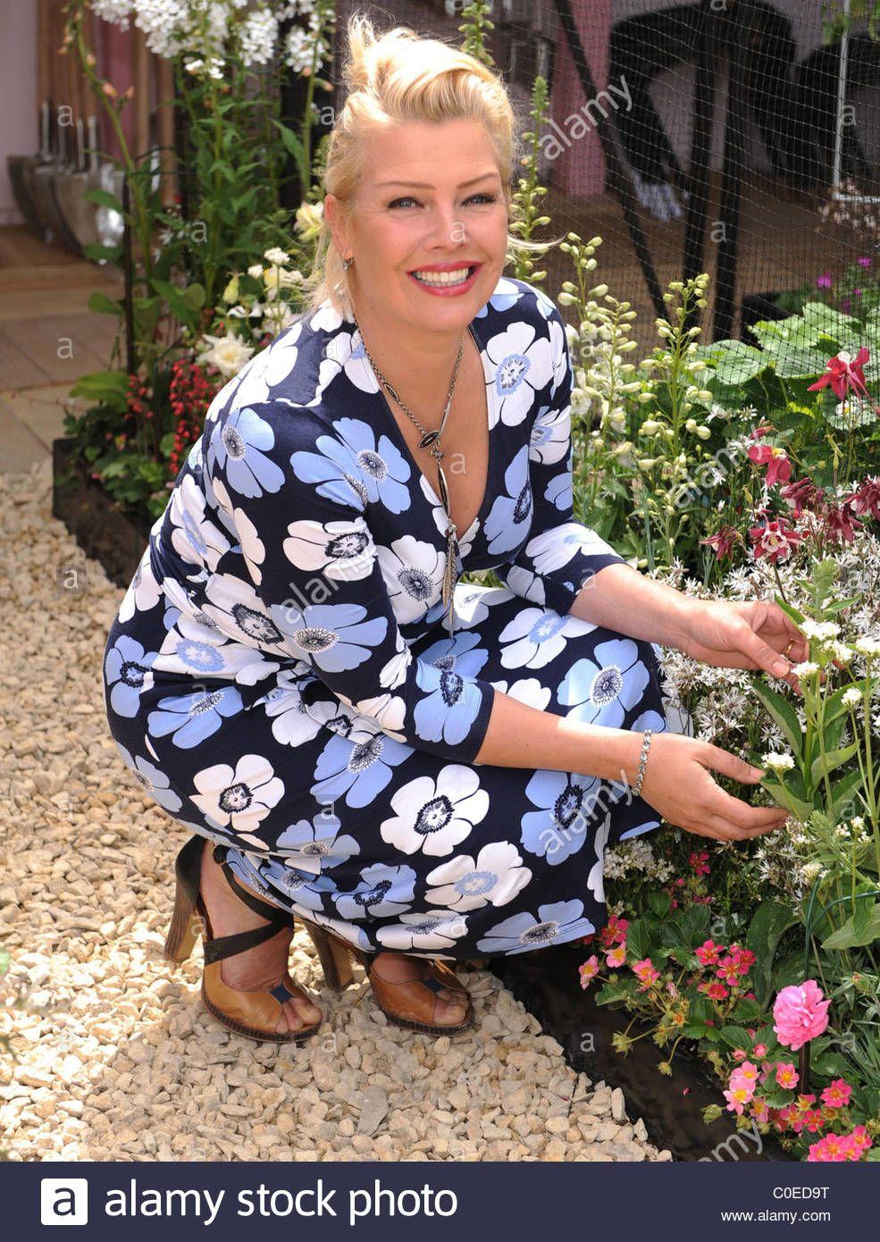Stock Photo Kim Wilde at Chelsea Flower Show London