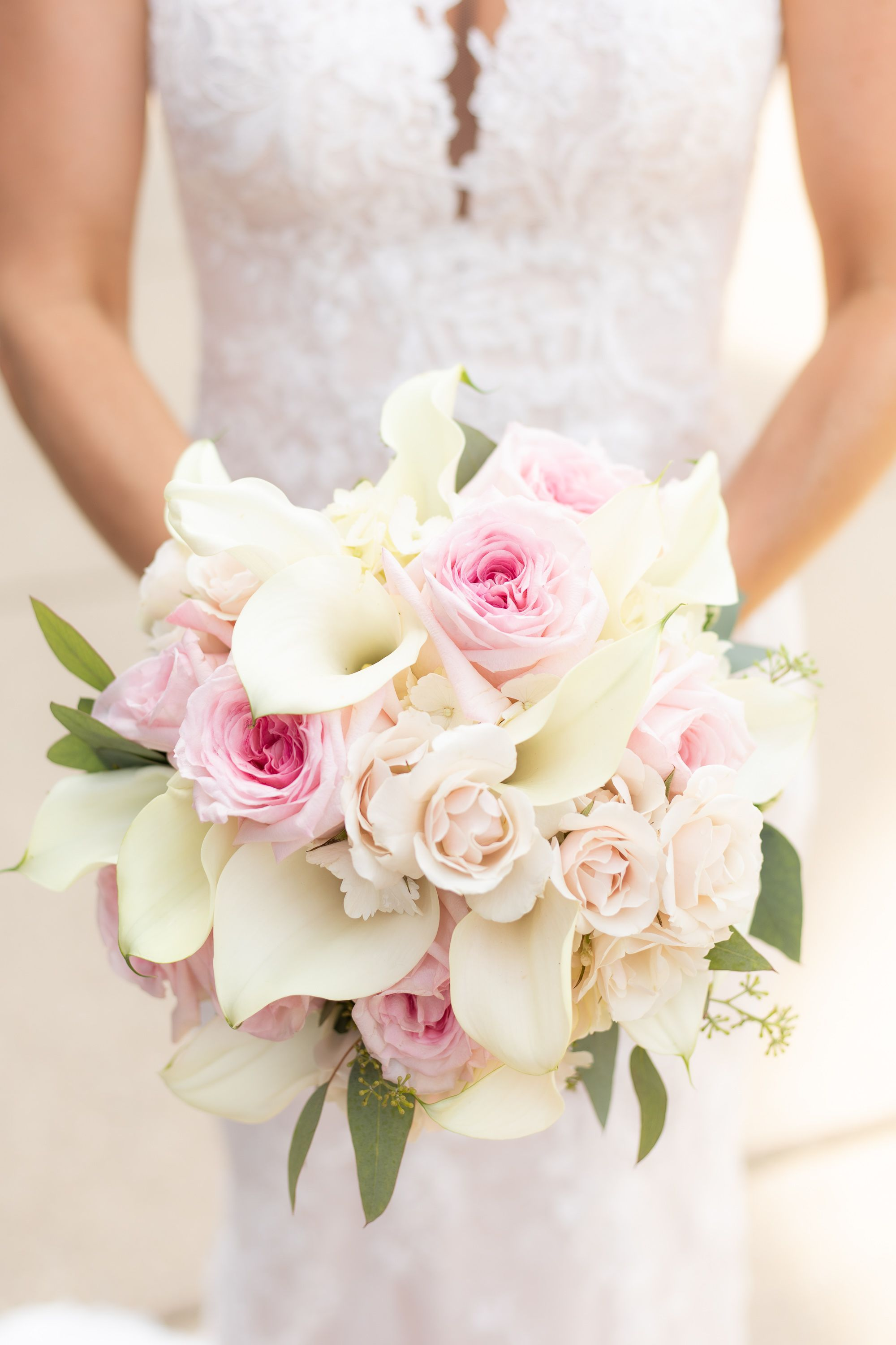 Rose Calla Lily Wedding Bouquet in 2020 Lily bouquet