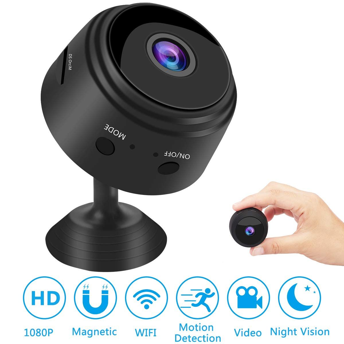 Mini Spy Camera Wireless Hidden WiFi Camera, HD 1080P
