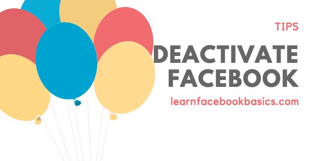 Steps to deactivate Your Facebook Account - 2018 #DeleteFacebook