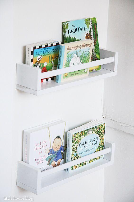 Ikea Spice Racks 3 99 As Forward Facing Bookshelves For My Nursery