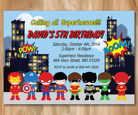 super hero birthday party invitation superhero pop art bday invite