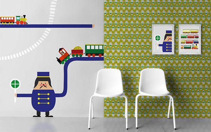 Bildtapete Trains - Designer Tapeten DecorPlay