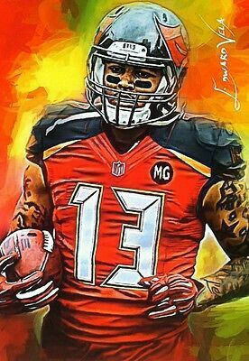 Mike Evans Mike Evans Nfl Football Art Football