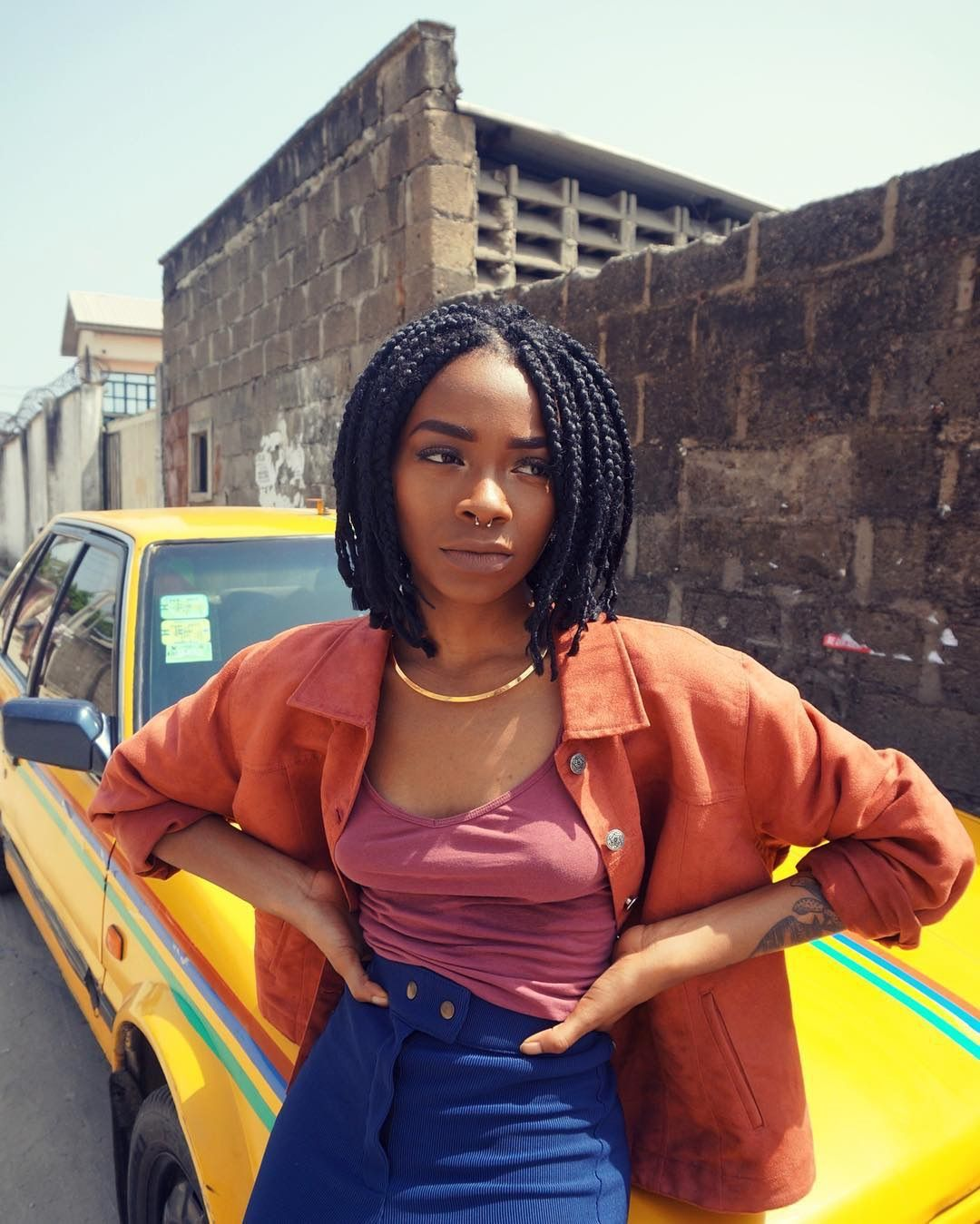 Pin by ShesAdanma on Killin' Em Short box braids, Short
