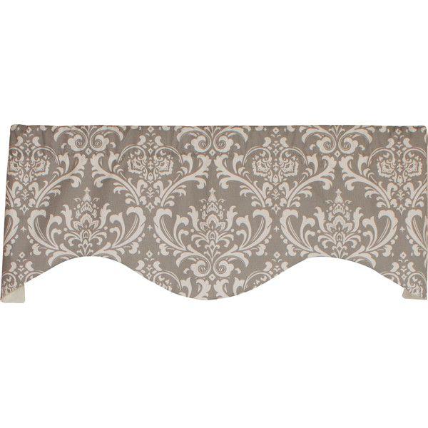 "Found it at Joss & Main - Royal Damask Cornice 50"" Curtain Valance"