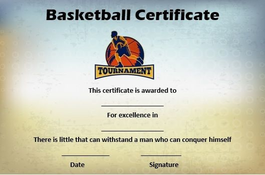 Basketball Mythical 5 Certificate | Basketball Certificate