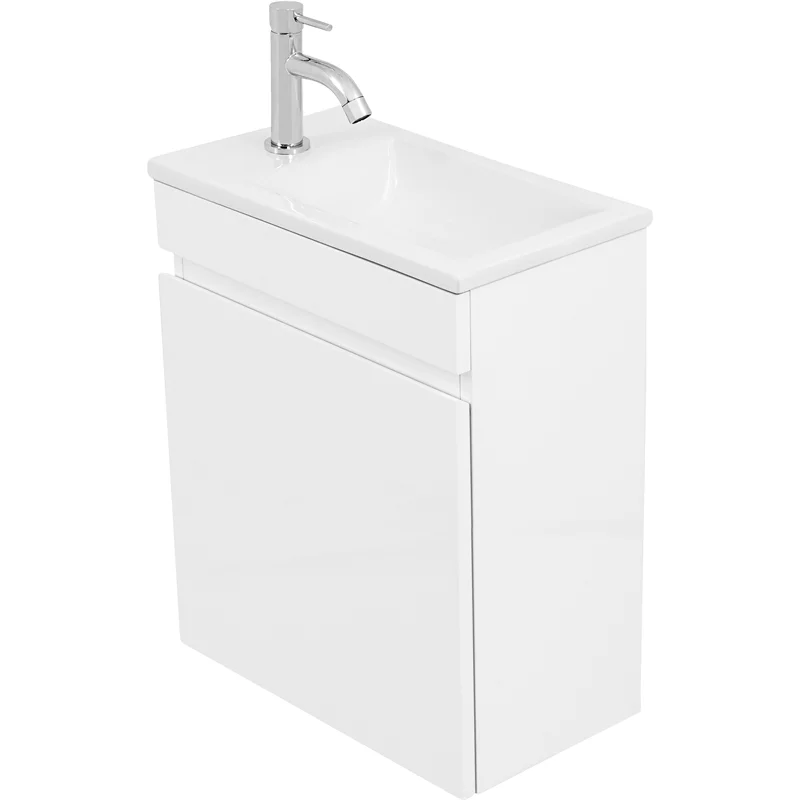 Cibo Design 450mm White Tonic Mini Wall Hung Vanity in
