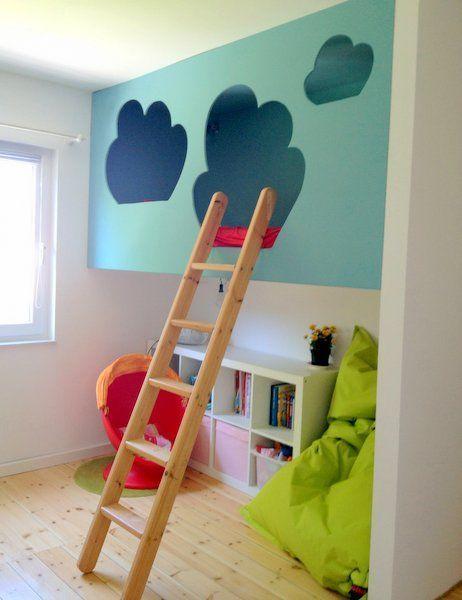 detailverliebt himmlisches hochbett hochbetten f r kinder pinterest kinderzimmer. Black Bedroom Furniture Sets. Home Design Ideas