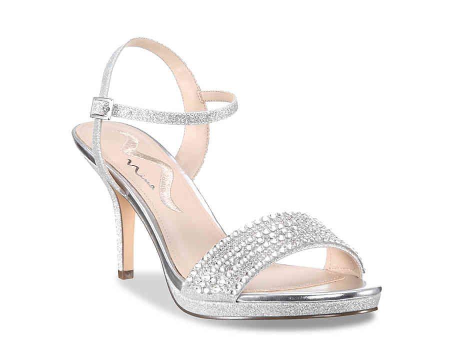 Nina Varuna Sandal | Prom shoes silver