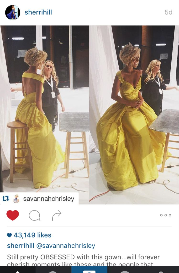 a12fb81f6e savannah chrisley in yellow gown
