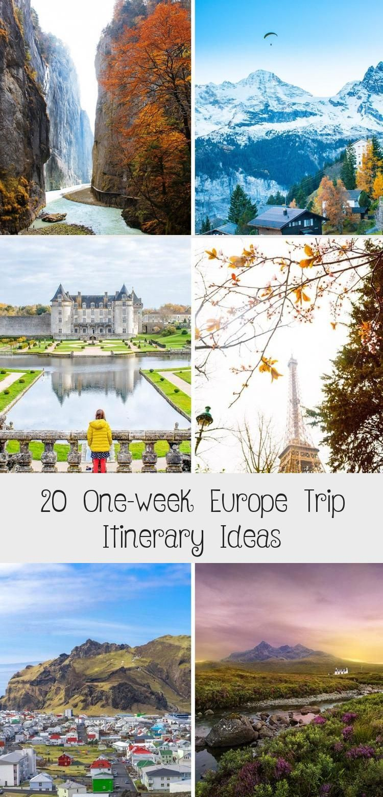 Wondering where to spend one week in Europe These 20 ideas for your Europe trip will help you decide how to maximize your time and enjoy as many destinations as possible