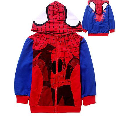 Cool kids boys #autumn coat #hoodies red spiderman zipper 100% cotton #clothing,  View more on the LINK: 	http://www.zeppy.io/product/gb/2/131534915787/