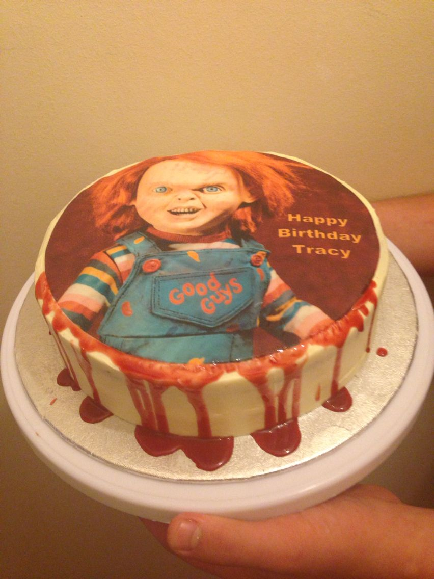 Chucky Birthday Cake Made Edible Blood With Golden Syrup And Food
