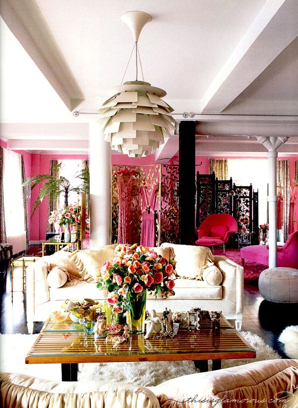 Wonderful Check Out All Of Fashion Designer Betsey Johnsonu0027s Pink Penthouse. Itu0027s  Terrific, And Expresses In Decor/design The Same Very Personal Style And  Exuberant ...