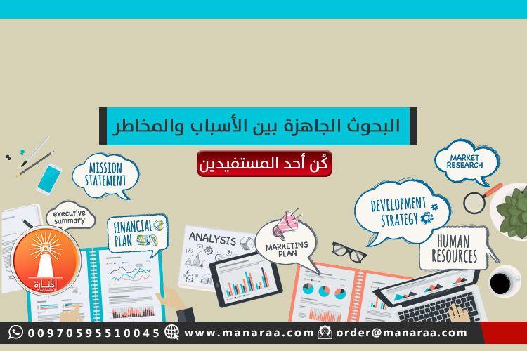البحوث الجاهزة بين الأسباب والمخاطر المنارة للاستشارات Marketing Plan Executive Summary Human Resources