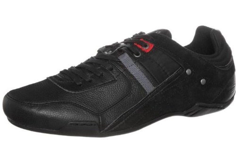 Diesel Korbin S Black Grey Red Leather