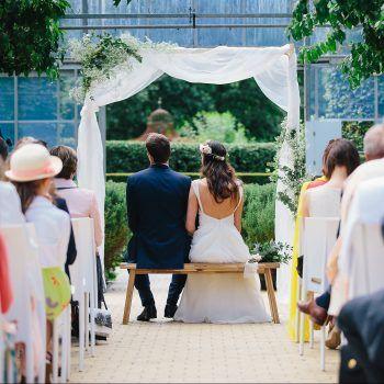 DIY arche en bois pour cérémonie de mariage