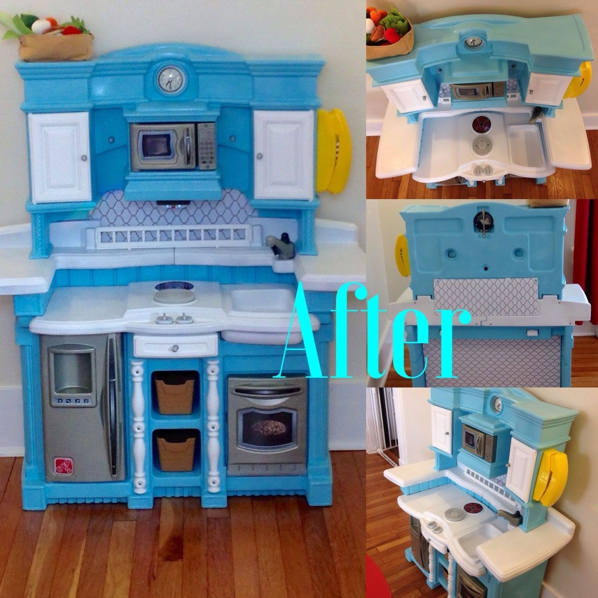 Upcycled Plastic Play Kitchen Play Kitchen Diy Play Kitchen Kids Play Kitchen