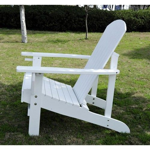 Outsunny Outdoor Adirondack Lounge Chair   White