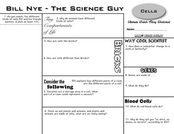 Bill Nye Genes Worksheet Answers - worksheet
