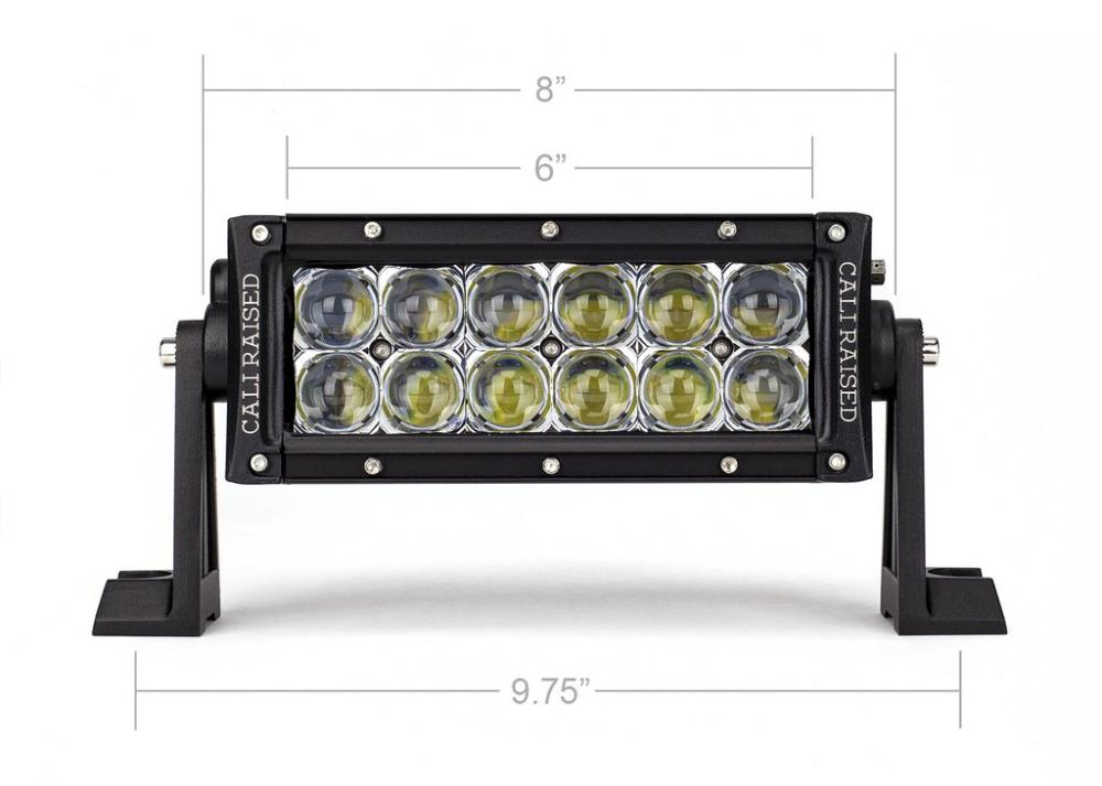 Cali Raised 8 In Dual Row 5d Optic Osram Led Bar Cali Raised Led Bar Lighting Led
