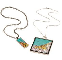 Hometown Love Map Necklace