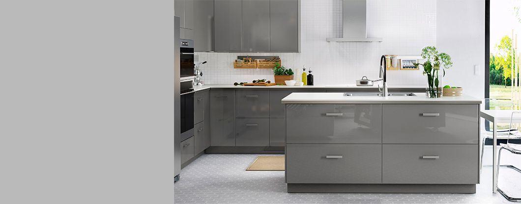 cuisines ikea metod ringhult 1060x415 ringhult gris 1060 415 kitchen pinterest. Black Bedroom Furniture Sets. Home Design Ideas