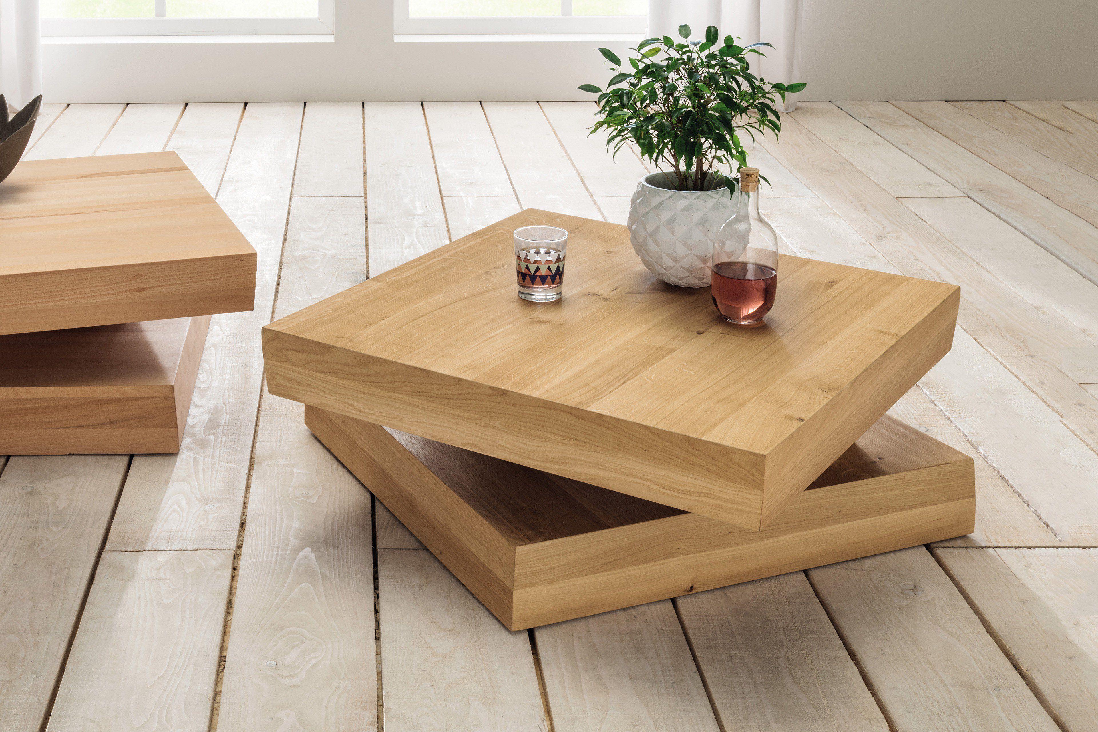 fridolin von pure natur couchtisch aus wildeiche massiv. Black Bedroom Furniture Sets. Home Design Ideas