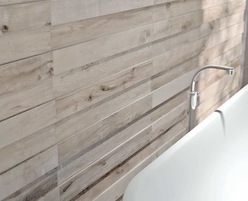 Ceramic Tile Replicates Wood Dakota by Flaviker Rustic charm