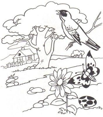 dibujos para colorear de paisajes para usar … | dibujo | Pinte…