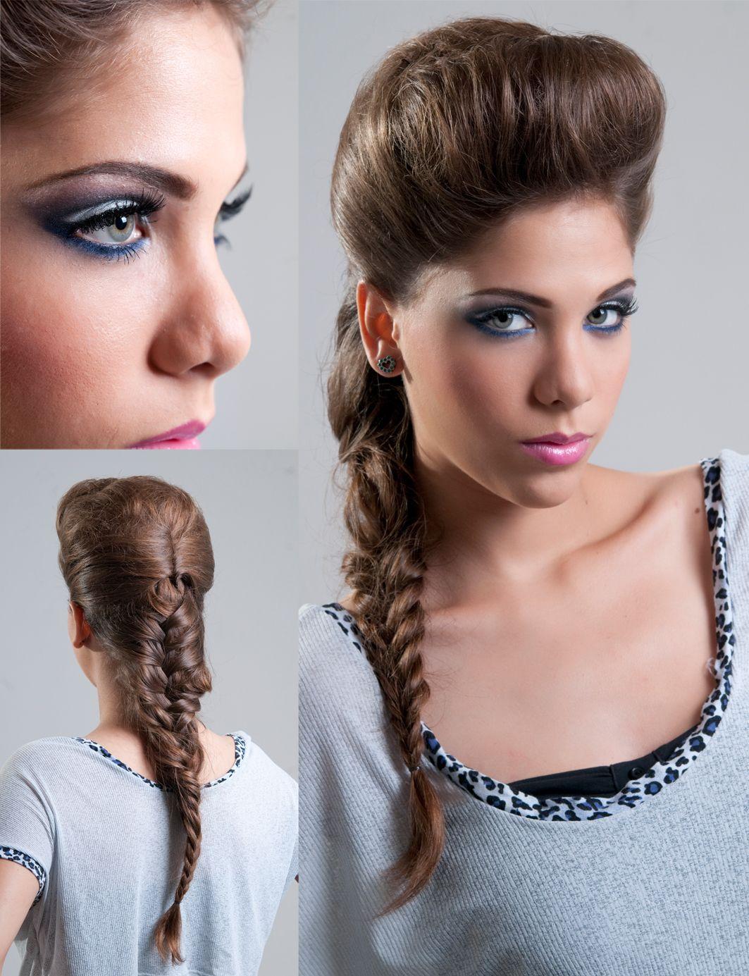 Más notable peinados bellos Colección De Cortes De Pelo Tutoriales - Un peinado bello por adelante y por detrás. El maquillaje ...