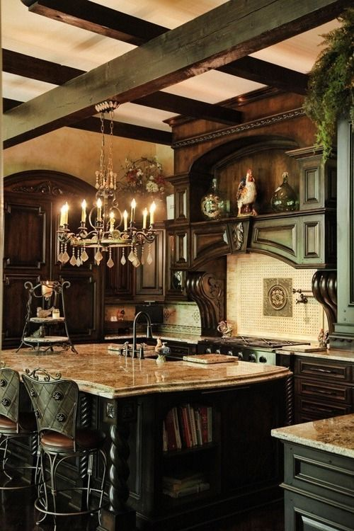 Beautiful French country kitchen.