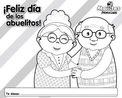 Best Feliz Dia De Los Abuelos Para Colorear Image Collection