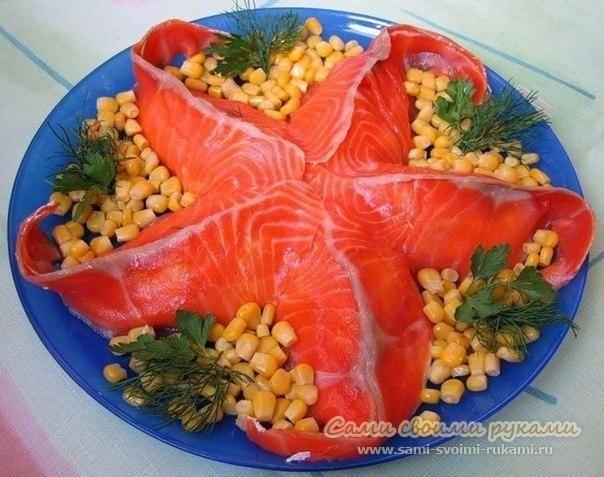 Праздничные салаты морская звездочка
