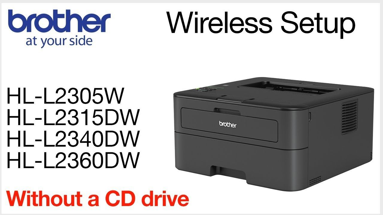 Wireless Setup Using The Control Panel Hll2360dw Hll2340dw Hll2315dw H Wireless Printer Brother Printers Printer