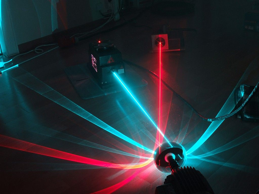 Noble Gas Laser Argon with special effects The Power of Light