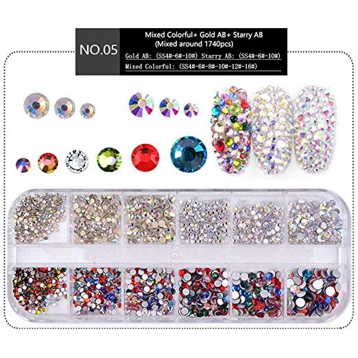 Aliexpress Com Buy 1440pcs Gold Bottom Crystal Clear: MIOBLET 1440pcs (Clear Crystal + Gold AB)Round 1.5mm-3.8mm
