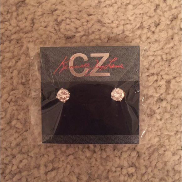 Kenneth Jay Lane CZ Silver Studs NWT Kenneth Jay Lane Jewelry Earrings