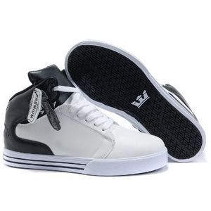 customize supra shoes white black mid top patent leather