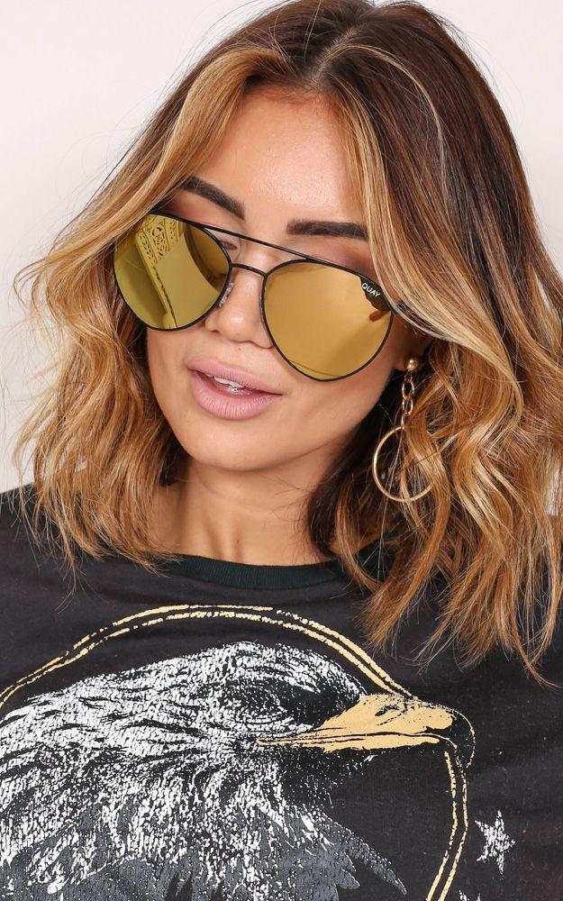 ed352e8e81 Quay - Indio sunglasses in black and gold
