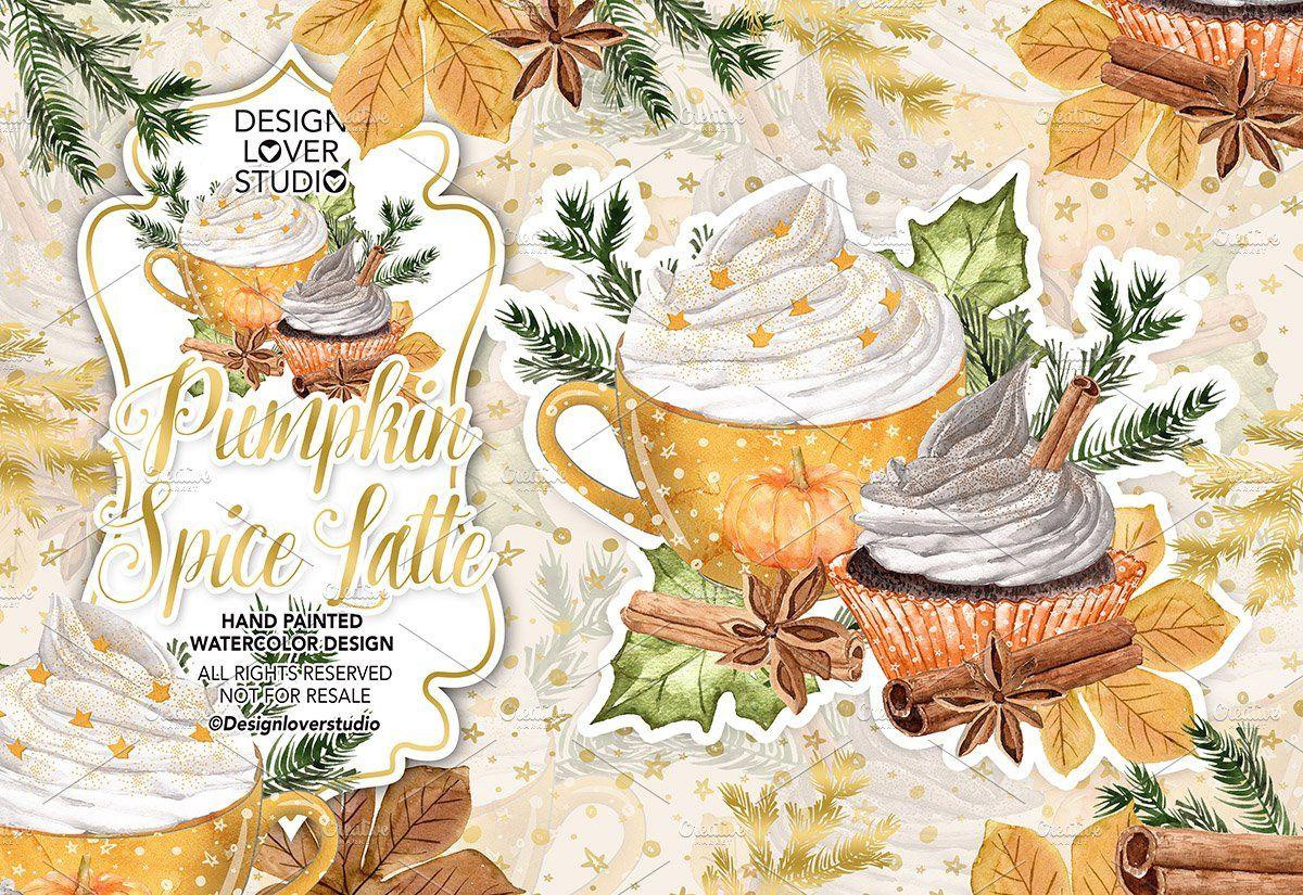 Pumpkin Spice Latte design , #affiliate, #stickers#planner ...