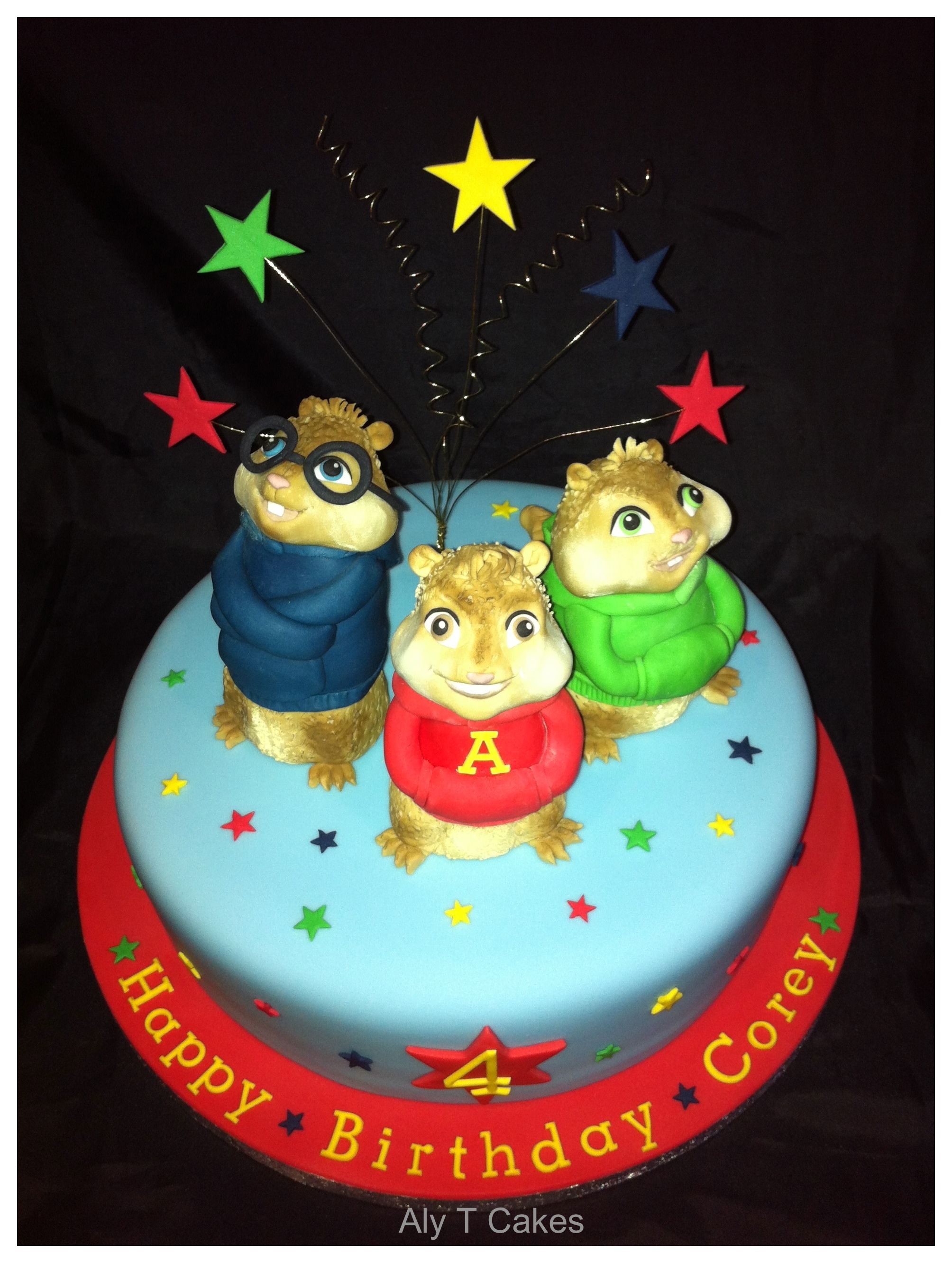 Alvin And The Chipmunks Cake Alvin And The Chipmunks Birthday