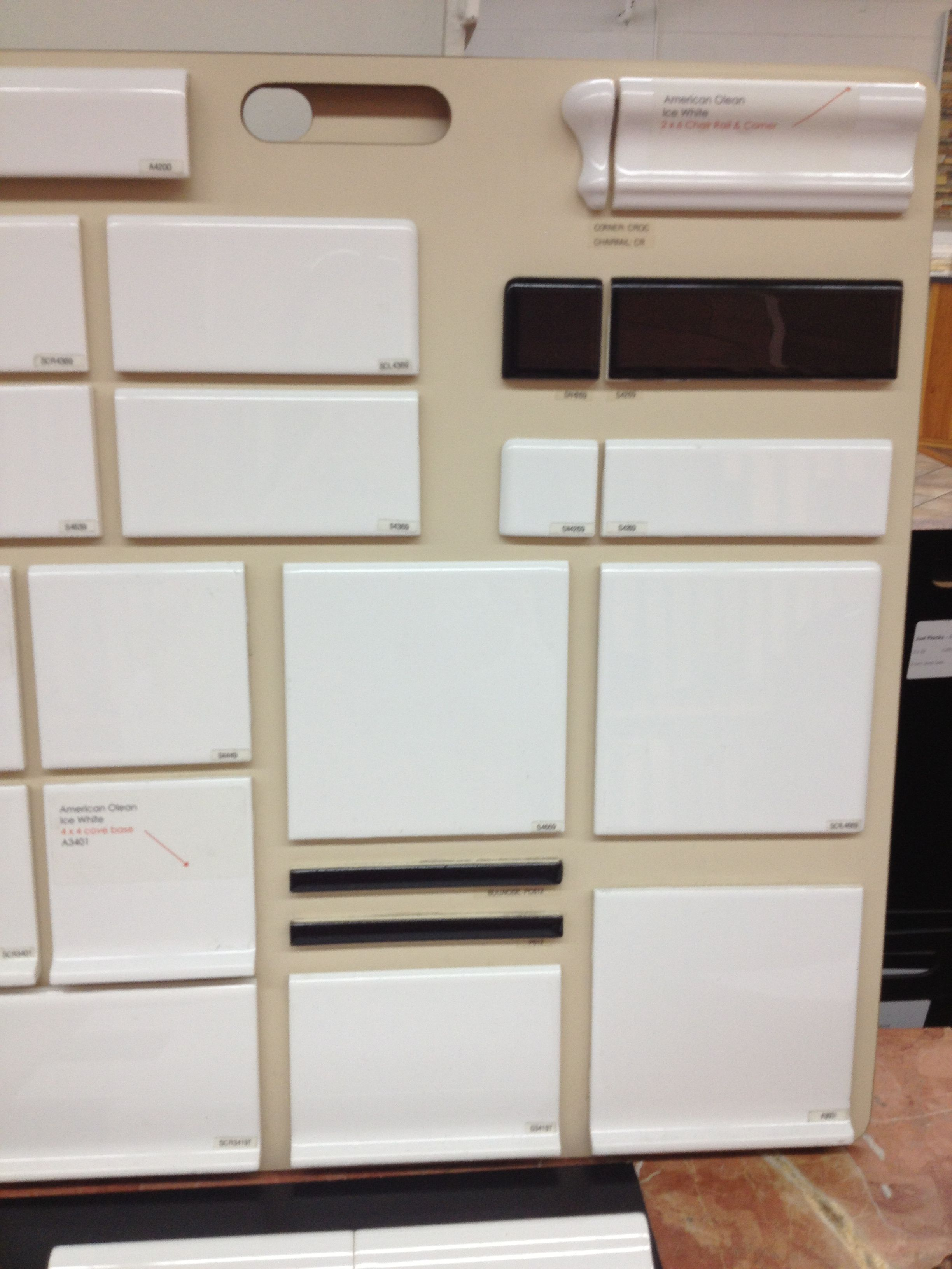 Option 2 american olean ice white 6x6 base 236 and chair rail option 2 american olean ice white 6x6 base 236 and chair rail 417 from roma dailygadgetfo Choice Image