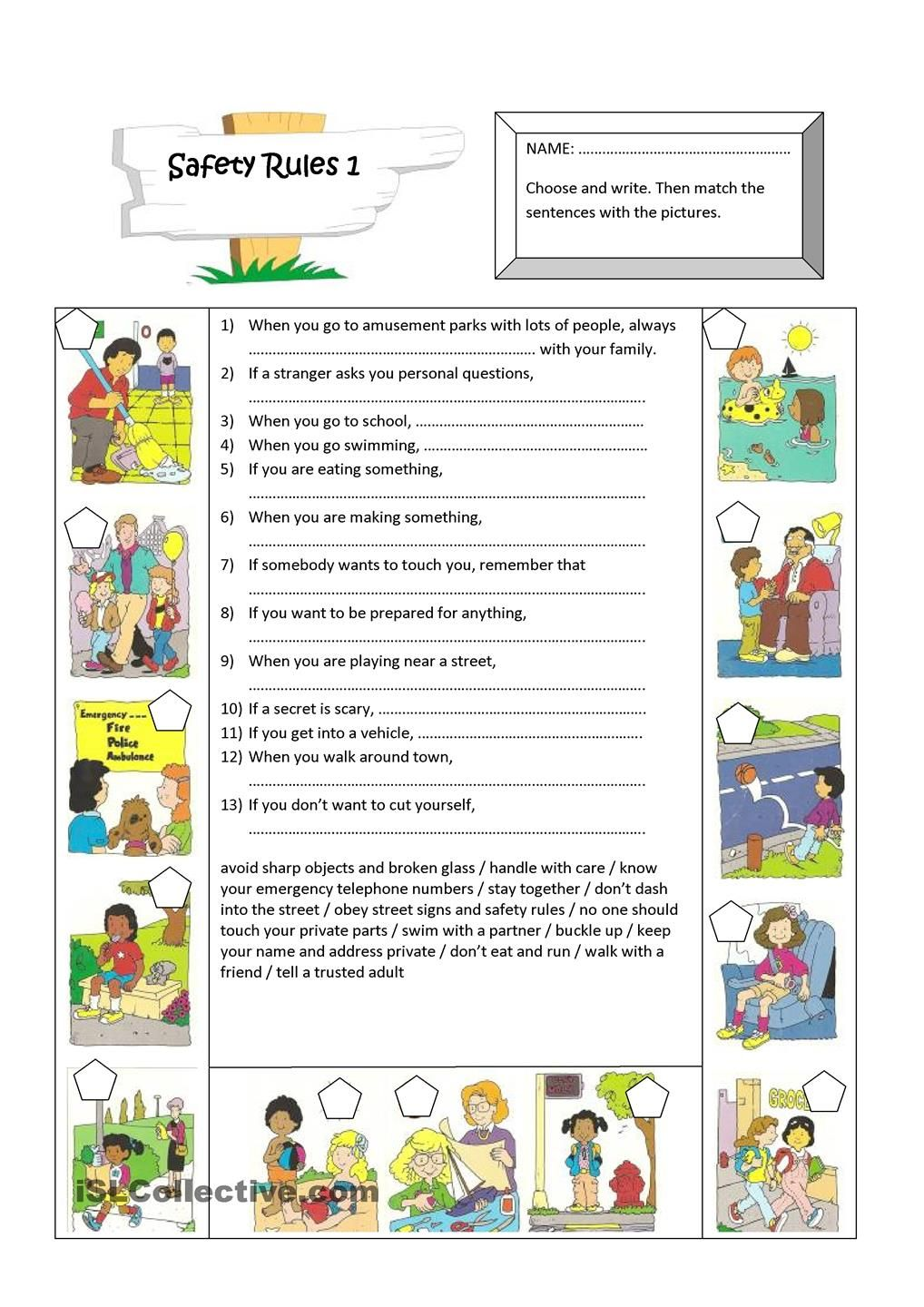 Safety Rules Safety Rules Divisibility Rules Worksheet English Worksheets For Kids