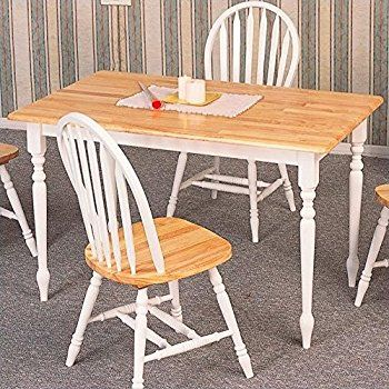 amazon com  coaster country butcher block oak and white finish wood dining table  kitchen  u0026 dining   ideas for our house   pinterest   coasters     amazon com  coaster country butcher block oak and white finish      rh   pinterest com