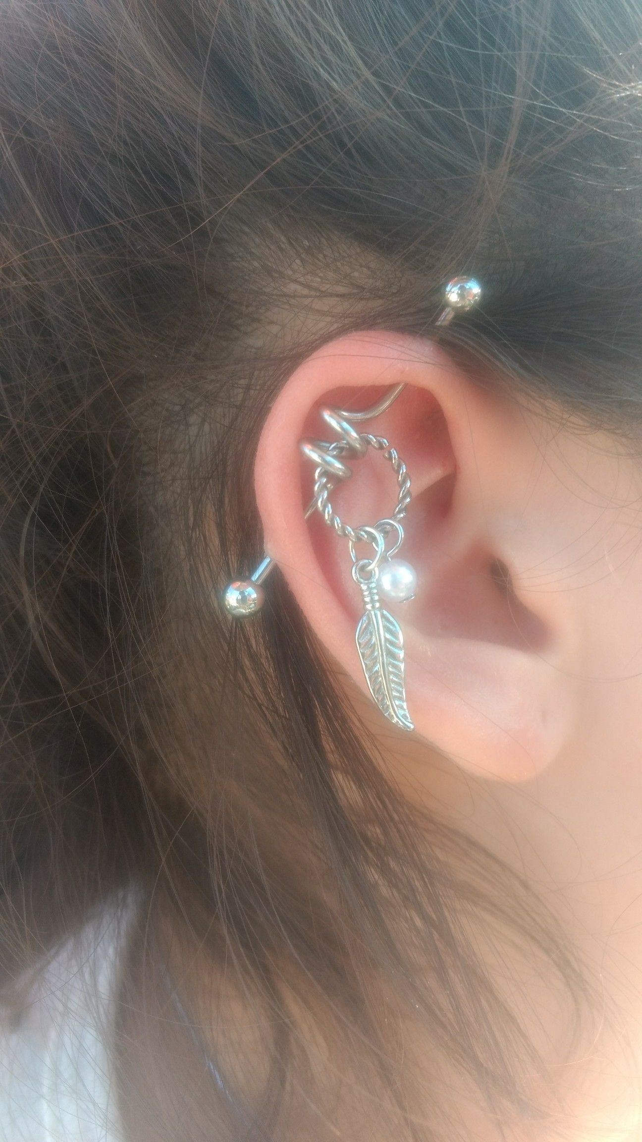 Ear Bar Industrial Piercing Piercing Pinterest Industrial