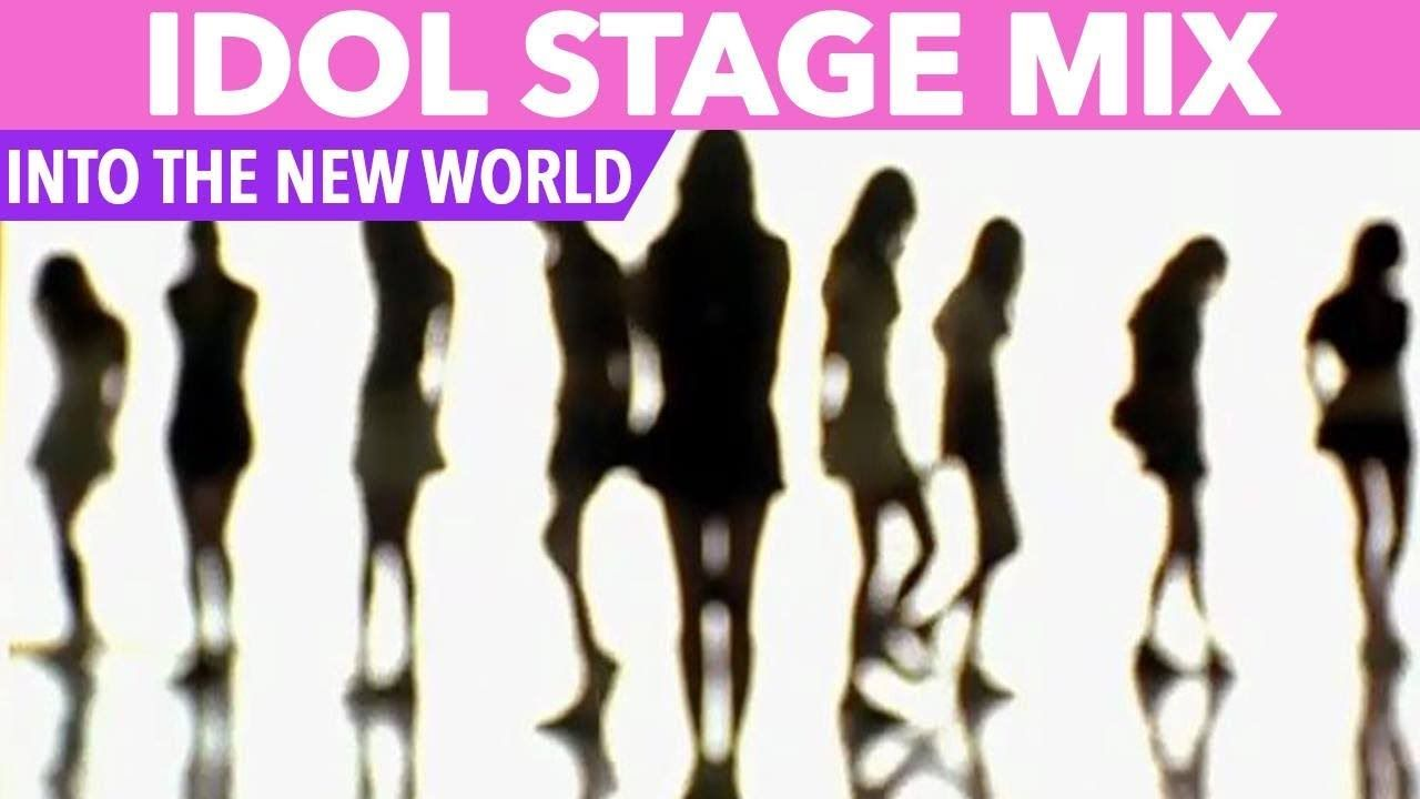 Idol Stage Mix Snsd Into The New World Twice Red Velvet Gfriend More Youtube K Pop Music Pop Songs Montage Video