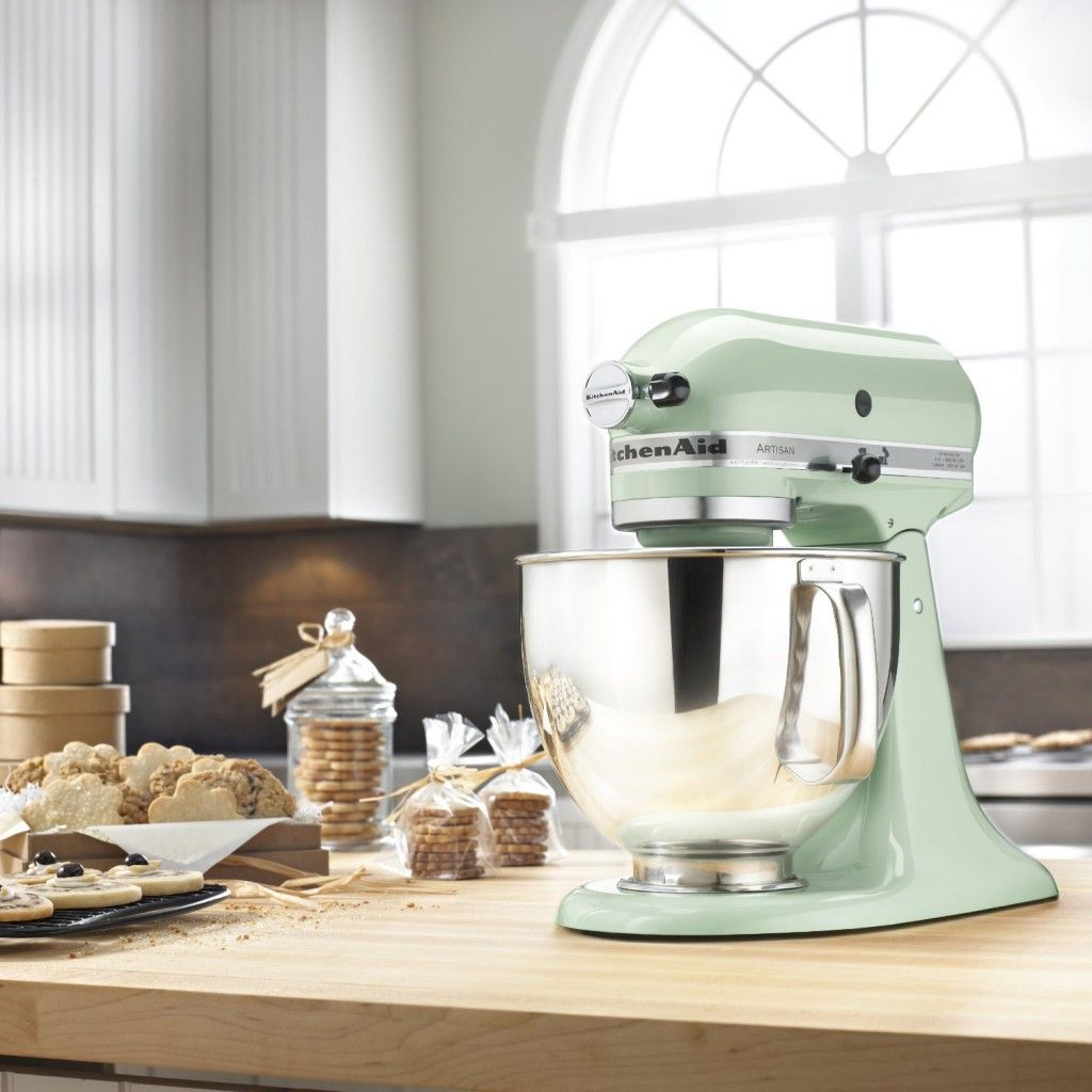 kitchenaid artisan 5 quart stand mixers in mint home la cocina rh pinterest co uk
